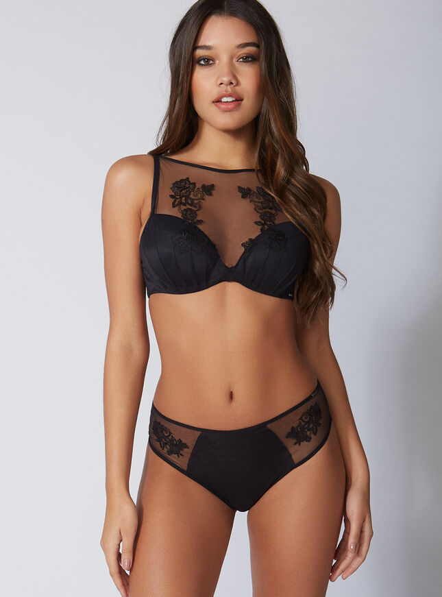 Bettie embroidered high-waisted thong