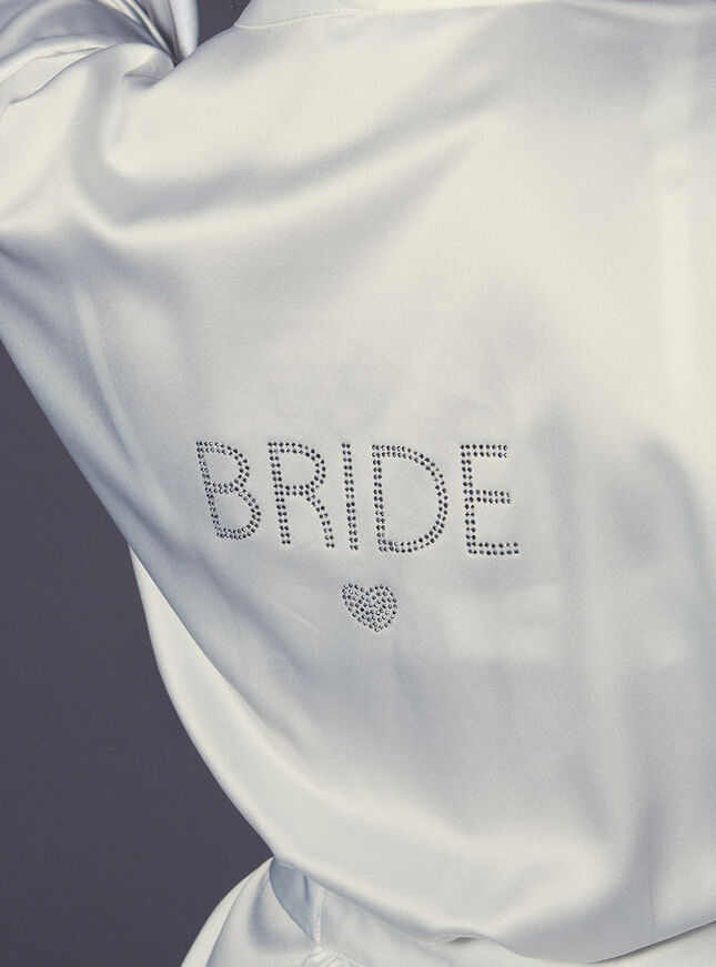 """""""Bride"""" satin kimono"""
