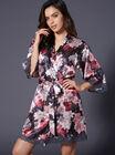 Spring floral printed kimono