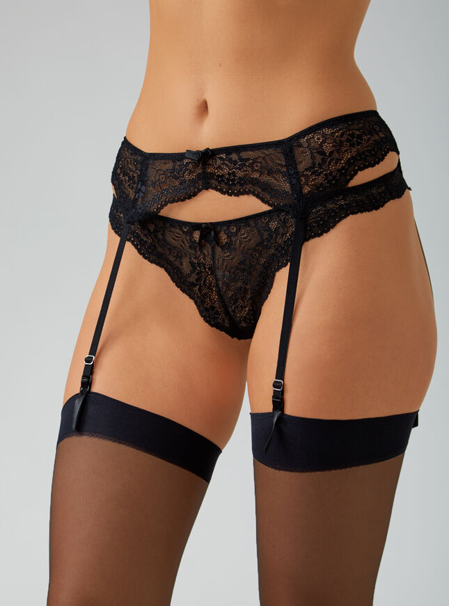 Chloe lace suspender belt