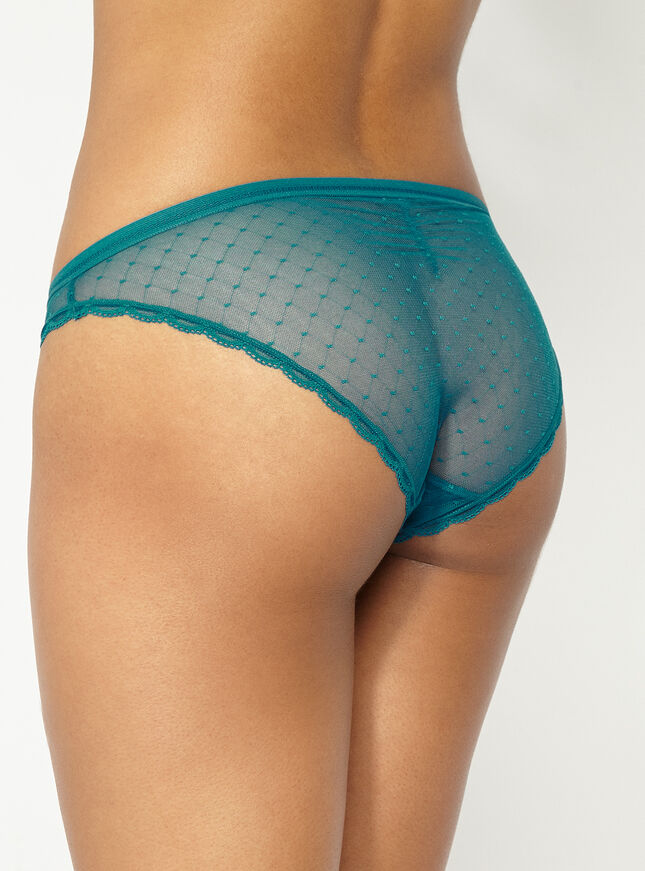 Ruched back mesh briefs