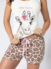 Stargazer giraffe vest and shorts set