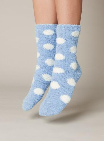 Spot Chenille Ankle Sock