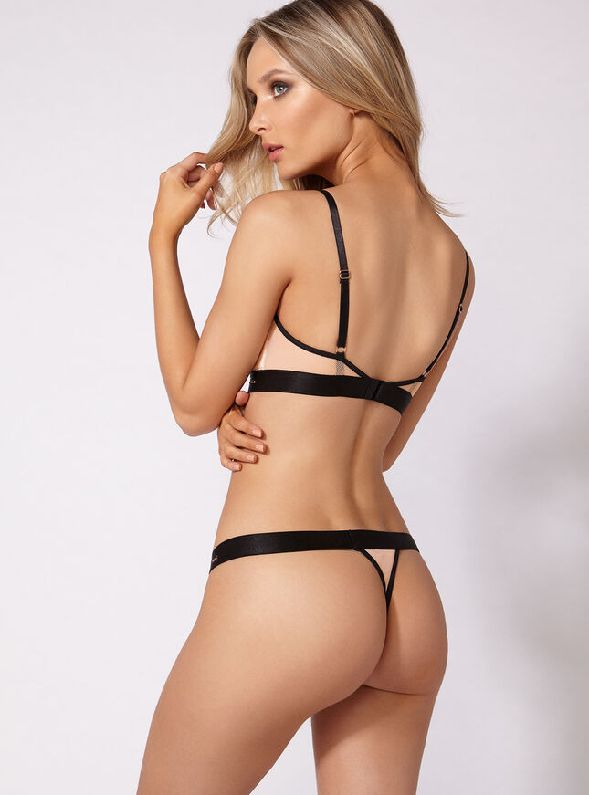 Demi non-padded triangle bra
