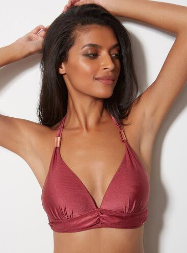 Athens shimmer bikini top