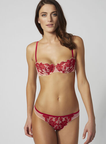 Bonnie embroidered thong