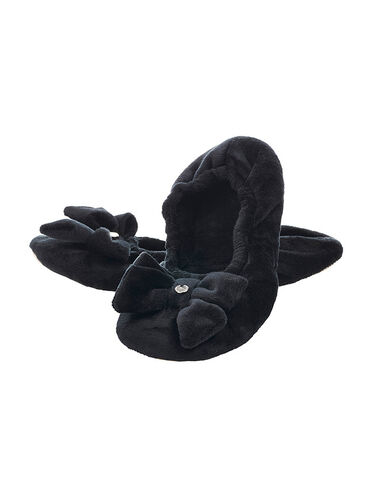 Bow fold up slippers