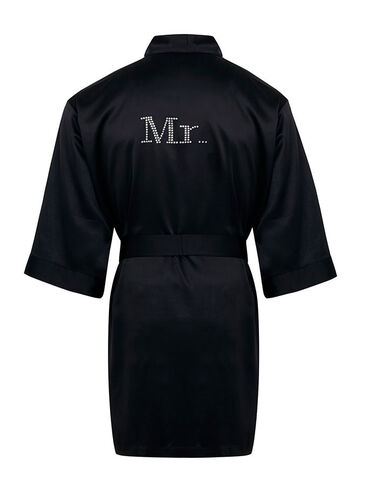 """Mr"" satin robe"
