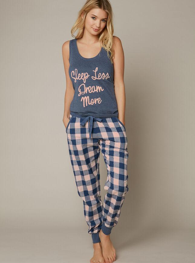 """""""Sleep less dream more"""" pyjama set"""