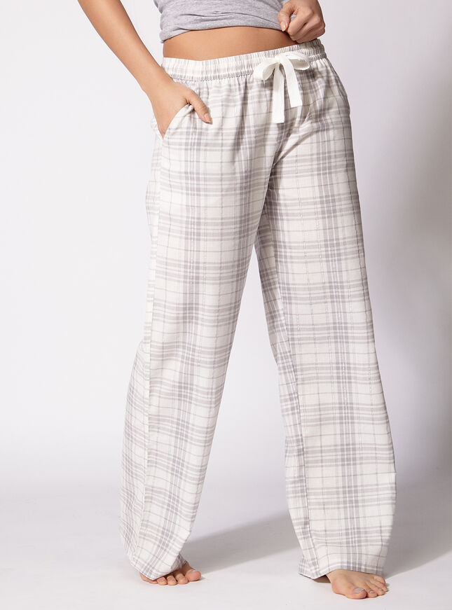 Kristy grey check pants