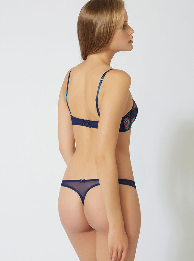 Evie floral thong