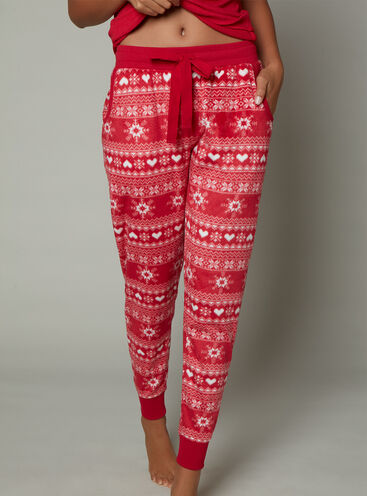 Fairisle minky fleece pants