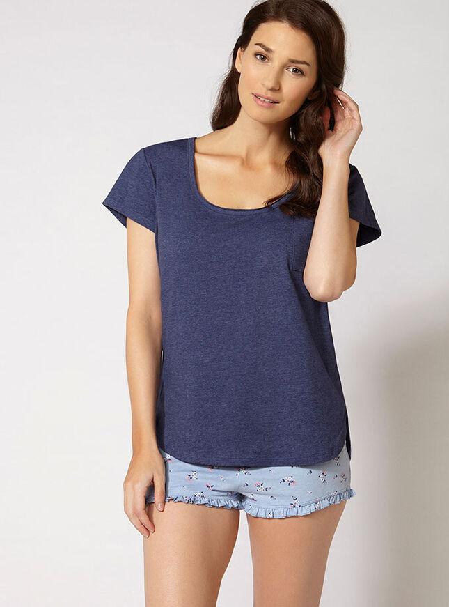 Slouchy tee and shorts pyjama set