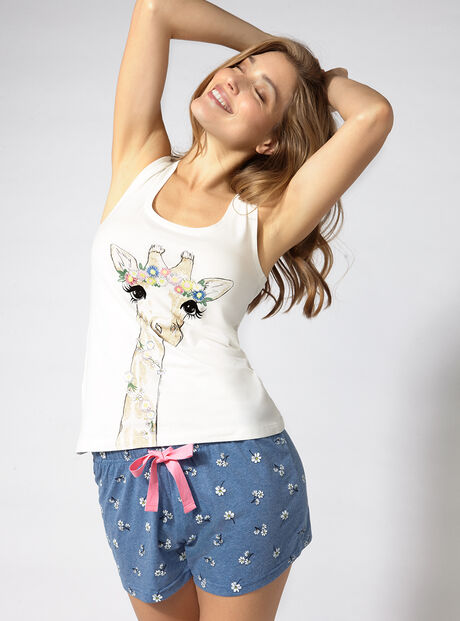 Meadow giraffe pyjama set