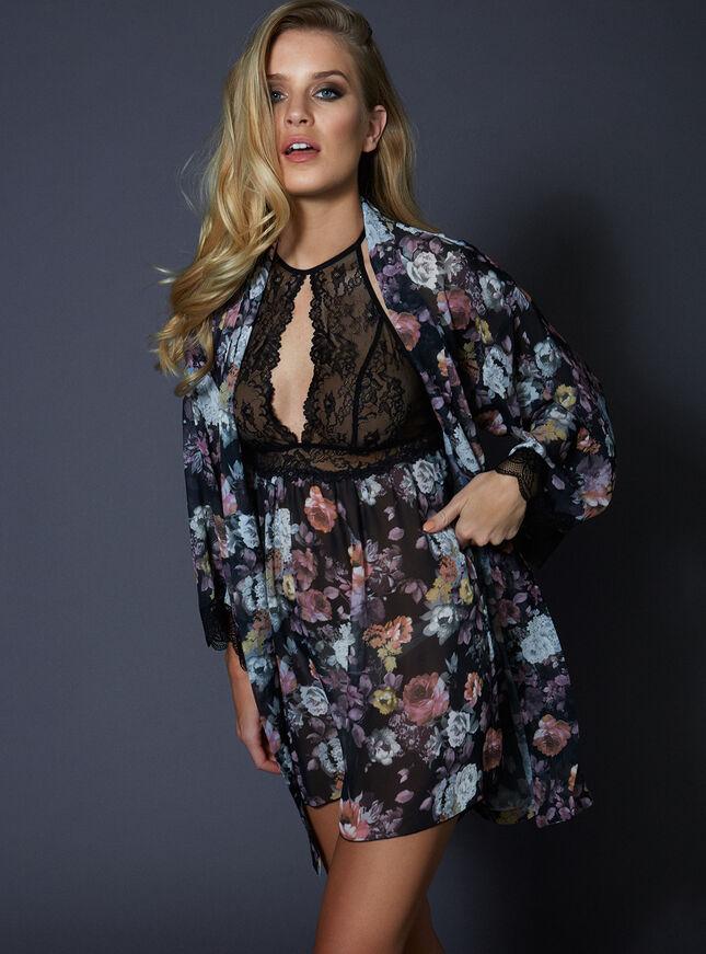Dark rose kimono
