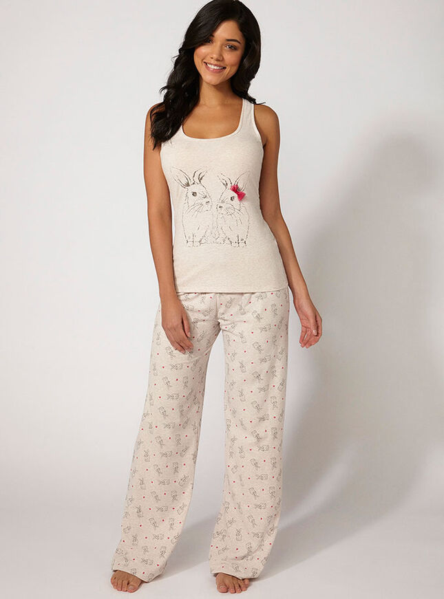 Foiled bunny vest and pants set