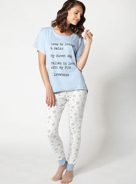 Love to lounge tee and leggings pyjama set