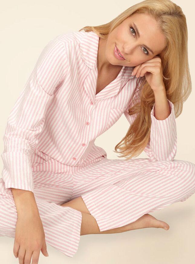 Candy stripe pyjamas in a bag