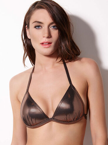 Cabaret metallic triangle bikini top