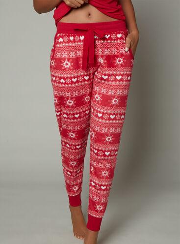 Fairisle minky fleece pants