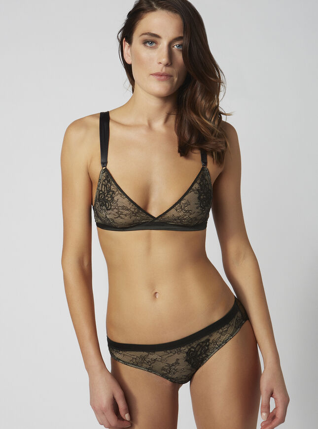 Zeena lace triangle bra