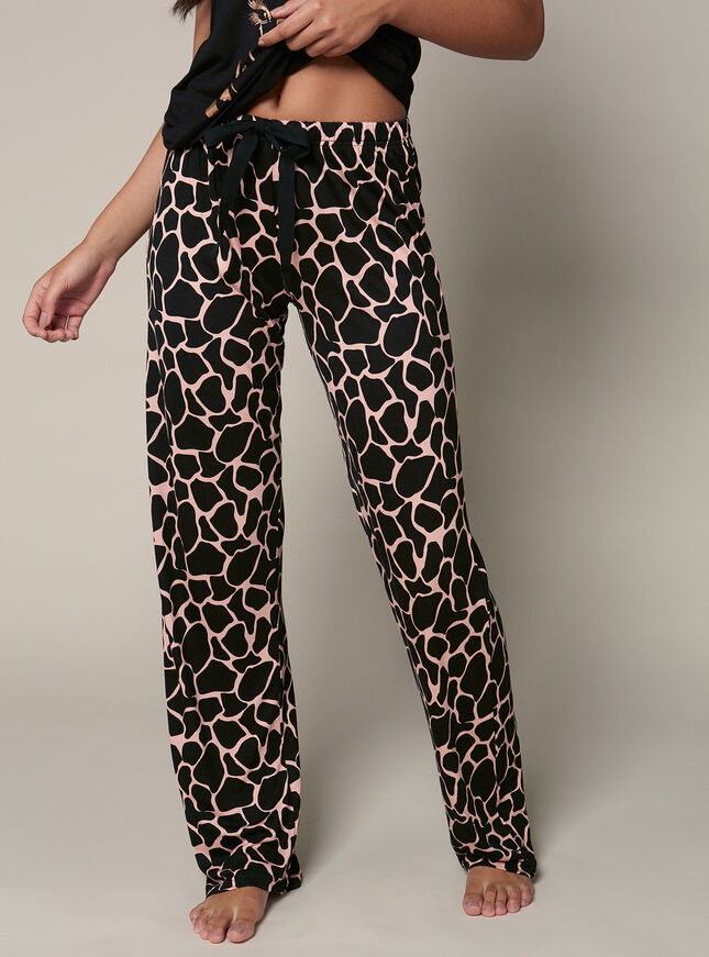 Rose gold giraffe pyjama set