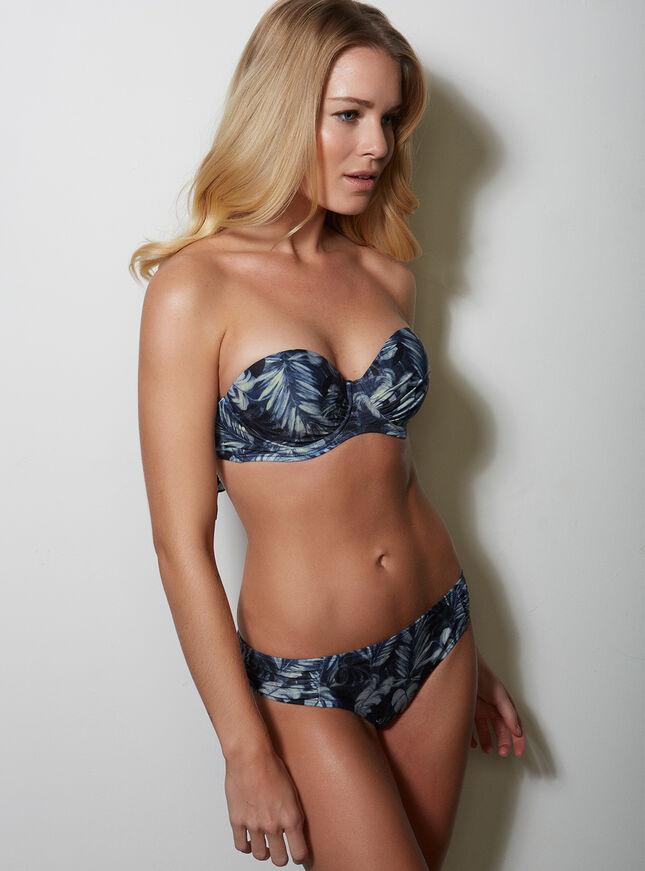 Midnight jungle bikini top