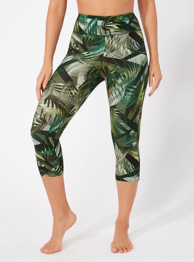 Activewear printed cropped leggings