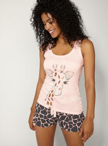 Giraffe vest and short set