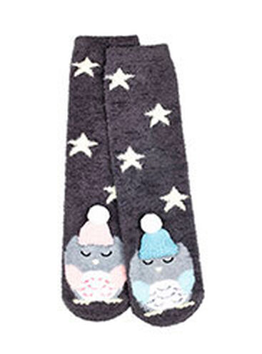 Loving couple owl socks