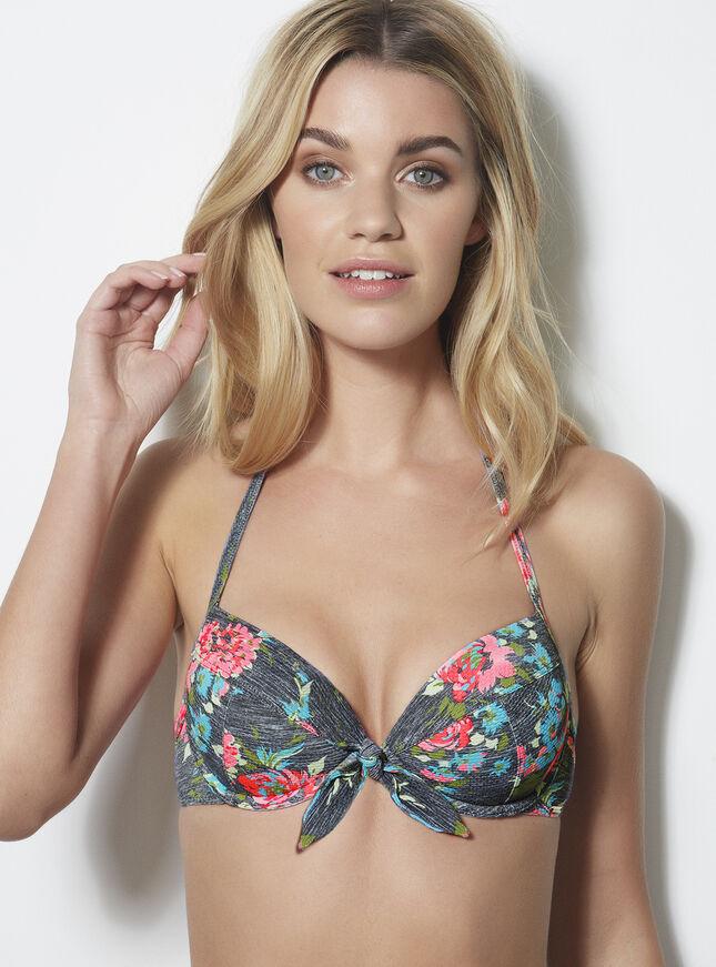Bondi floral bikini top