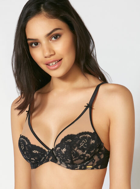 Opal non-padded plunge bra