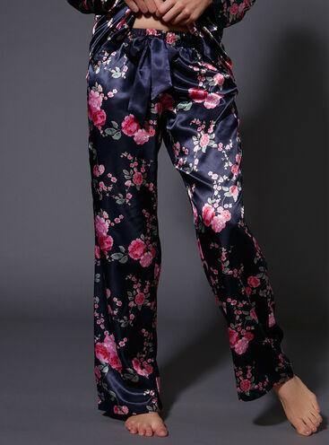 Japanese rose printed pants