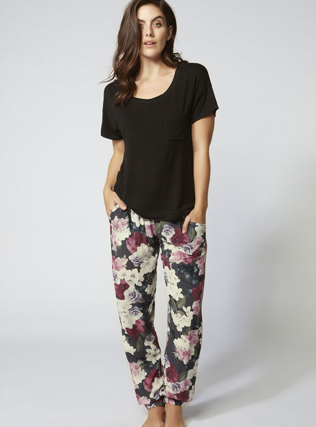 Dusky blossom tee and pants set