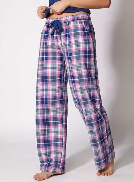Kristy navy check pants