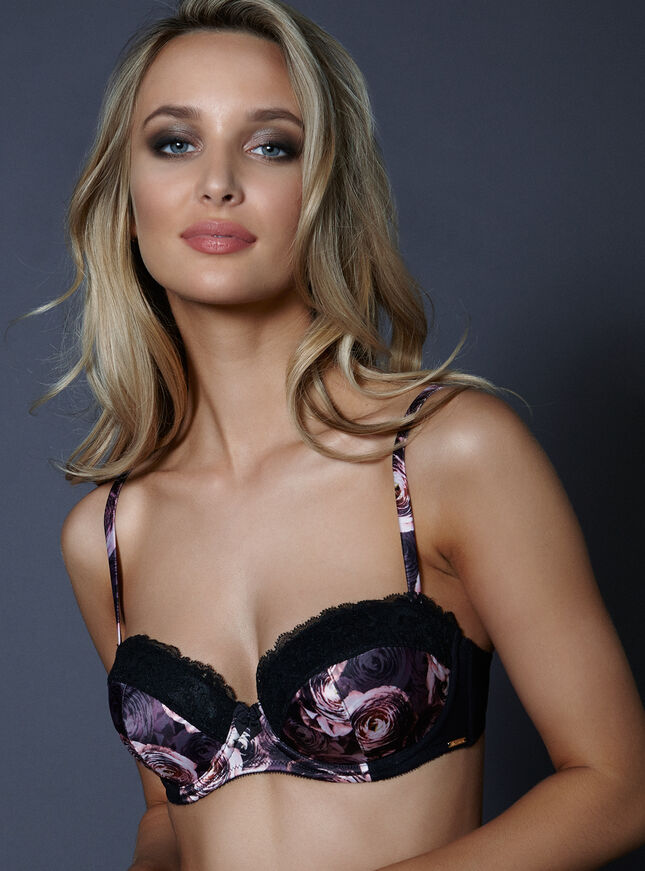 Reagan satin balconette bra