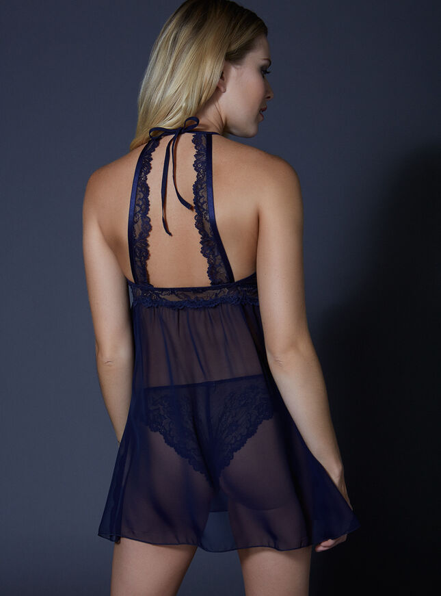 Yvette chiffon chemise and thong