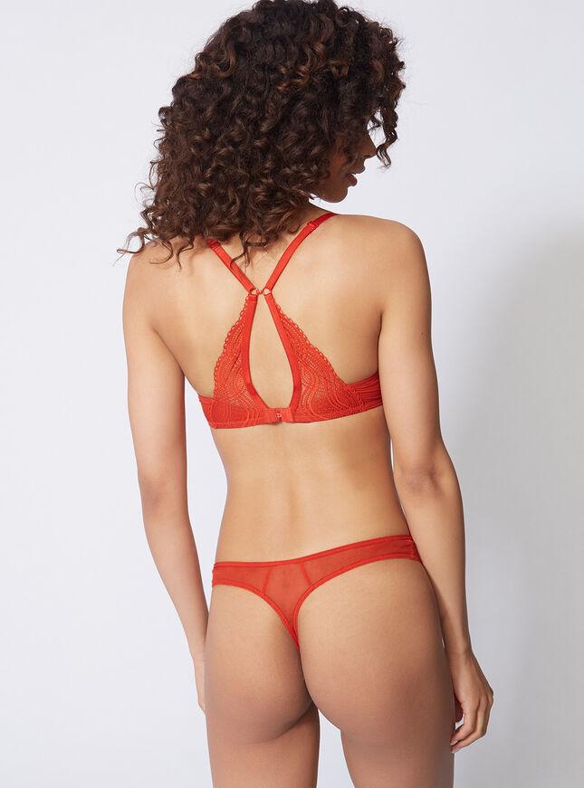 Zoe high apex non-padded bra