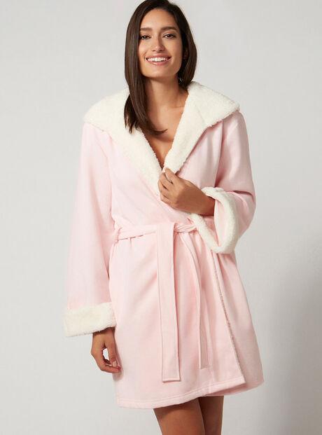 Sherpa hooded robe