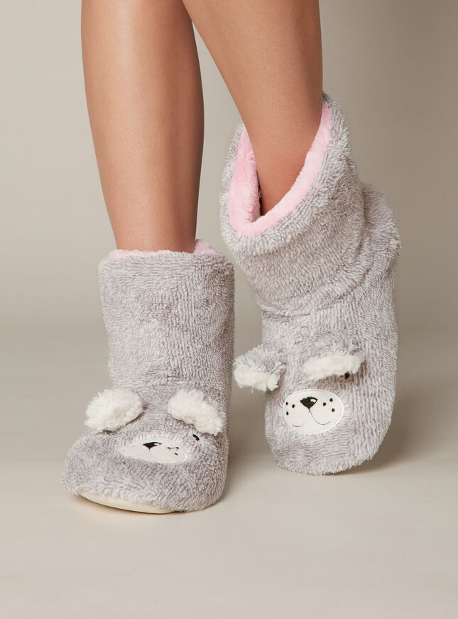 Grey Eddie Teddy Bootie