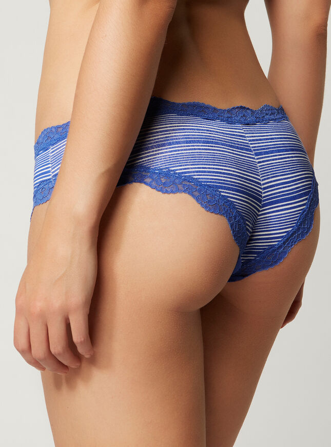 Tatiana stripy Brazilian briefs