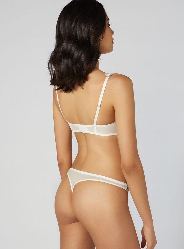 Jasmine satin thong