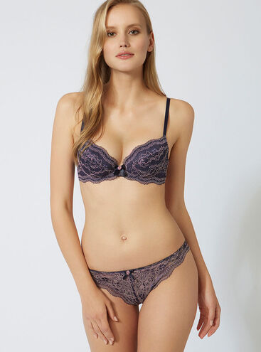 Chloe contrast lace thong