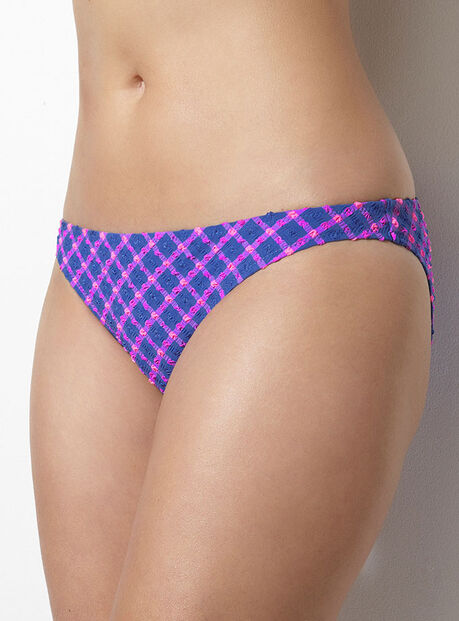Valletta multiway check bikini briefs