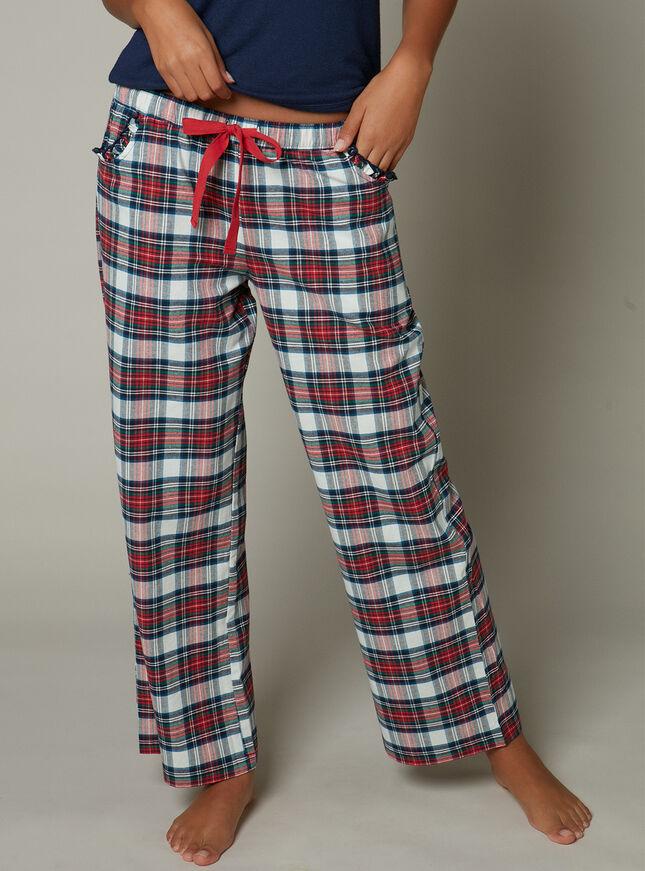Tartan check pyjama pants