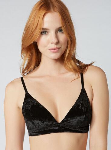 Kayleigh velvet triangle bra