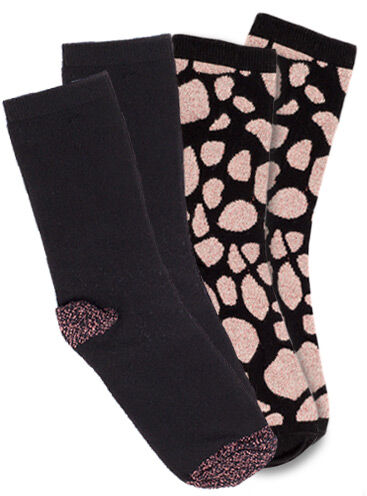 Giraffe/metallic 2 pack ankle socks
