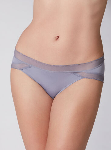 Microfibre briefs with mesh trim
