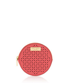 West 57th Perforated Round Coin Purse