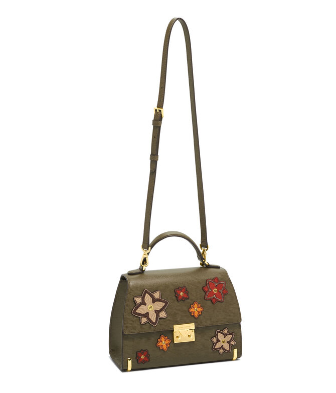 Waldorf Top Handle Satchel with Patches